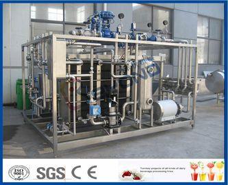 Équipement de pasteurisation de lait d'écran tactile de PLC avec l'échangeur de chaleur de plat