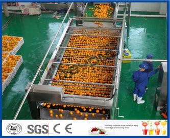 chaîne de fabrication orange de l'orange 10TPH d'extrait automatique de jus pour le jus faisant l'usine
