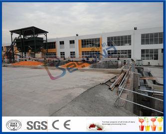 Tournez la chaîne de fabrication orange fraîche principale du projet 30TPH avec la machine de remplissage du tambour 200L