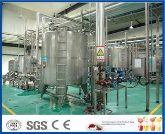 Chaîne de fabrication complète de jus de fruit du SUS 304 d'OIN avec machine de remplissage de bouteilles en plastique/en verre